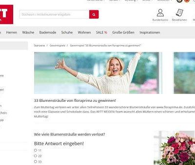 Witt Weiden Muttertags-Gewinnspiel 2019