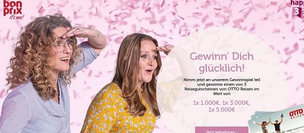bonprix Gewinnspiel 3 Otto Reisen Gutscheine gewinnen