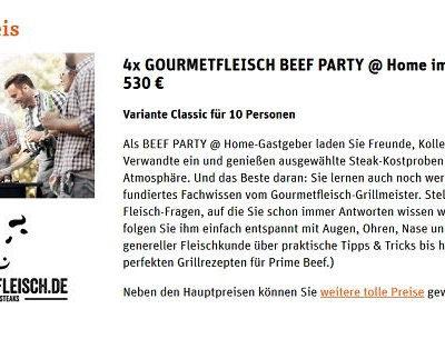 tegut Gewinnspiel 4 Gourmetfleisch Grillpartys