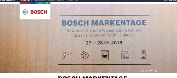 Amazon Gewinnspiel Bosch Markentage 10.000 Euro Produktpaket
