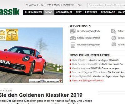 Auto Bild Klassik Gewinnspiel Wahl Goldene Klassiker 2019