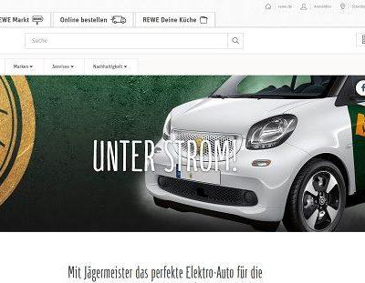 Auto-Gewinnspiel REWE und Jägermeister Elekto-Auto gewinnen