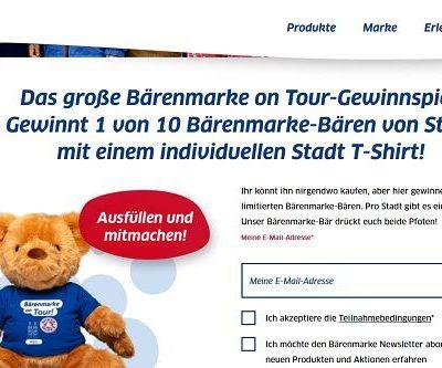 Bärenmarke Gewinnspiel Steiff Teddybären gewinnen