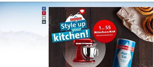 Bad Reichenhaller Gewinnspiel 55 KitchenAid Küchenmaschinen