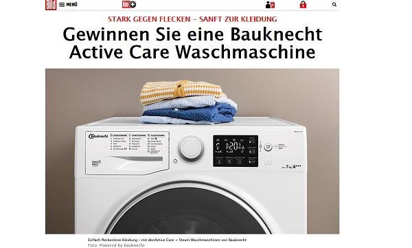 Gewinnspiel Waschmaschine