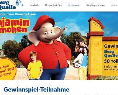 Berg Quelle Gewinnspiel 50 Benjamin Blümchen Fanpakete