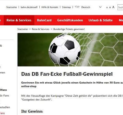 Deutsche Bahn Gewinnspiel Adidas Online-Shop Gutscheine