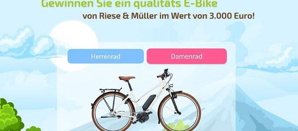 E-Bike Gewinnspiel Promoba 3.000 Euro Fahrrad