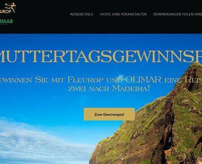 Fleurop Muttertags Gewinnspiel Madeira Reise