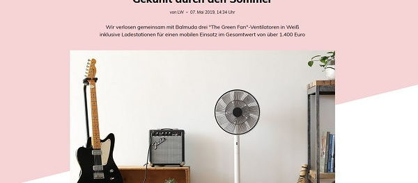 Glamour Gewinnspiele 3 The Green Fan-Ventilatoren
