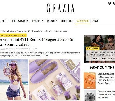 Grazia Magazin Gewinnspiel 4711 Remix Cologne Sets