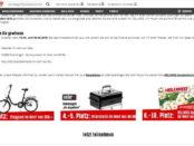 Hellweg Gewinnspiel kostenlos 3 Klappfahrräder und Grills