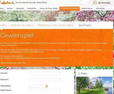 Holland Urlaub Gewinnspiel Ferienhaus 6 Personen