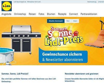 Lidl Sommer-Gewinnspiel Pool Grill