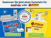Möbel-Gutschein Gewinnspiel 200 Euro Geschenkkarte
