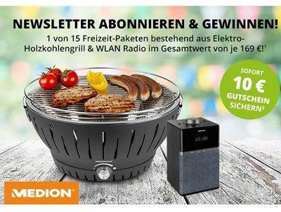 Medion Gewinnspiel 15 Freizeit-Pakete Grill und WLAN Radio