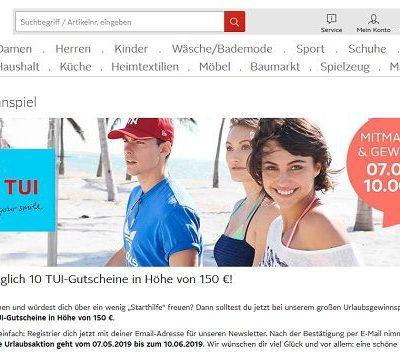 Otto Versand Reise-Gewinnspiel täglich 10 TUI-Gutscheine