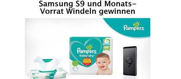 Pampers Gewinnspiel Samsung S9 Smartphone und Windelvorrat