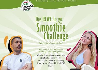 Rewe Gewinnspiel Smoothie Challenge Einkaufsgutscheine