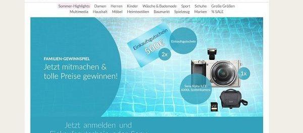 Schwab Versand Gewinnspiel 500 Euro Gutschein und Sony Kamera