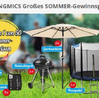 Songmics Sommer-Gewinnspiel Trampolin Gartenschirm uvm.