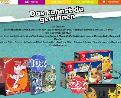 Toggo Gewinnspiel Nintendo Switch Pokemon Let´s Go