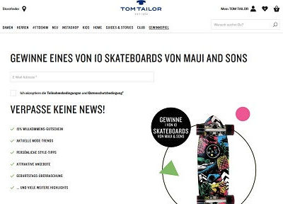 Tom Tailor Gewinnspiel 10 Maui and Sons Skateboards
