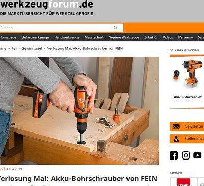 Werkzeugforum Gewinnspiel Fein Akku-Bohrschrauber