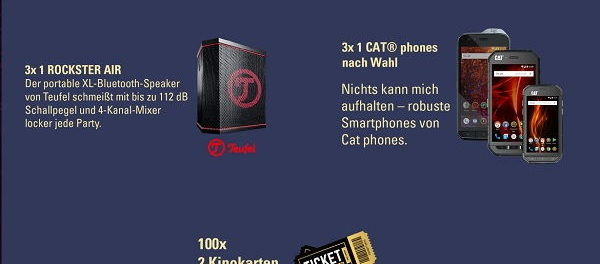X-Men Gewinnspiel Cat Smartphone und Teufel Lautsprecher