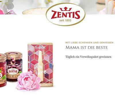 Zentis Muttertags-Gewinnspiel täglich Gewinner