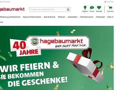 hagebaumarkt Jubiläums-Gewinnspiel Sofortgewinne und Einkaufsgutscheine