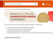 medpex Gewinnspiel 100 Dankeschön-Boxen mit Inhalt im Wert von je 70 €