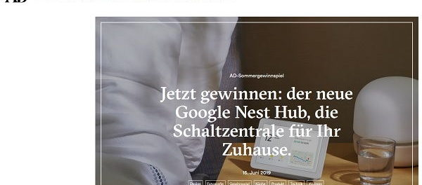 AD Magazin Gewinnspiel Google Nest Hub