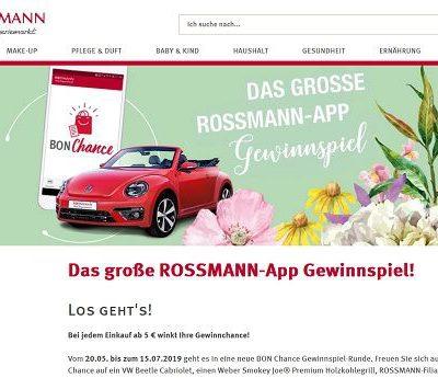 Auto-Gewinnspiel Rossmann VW Beetle Cabrio gewinnen