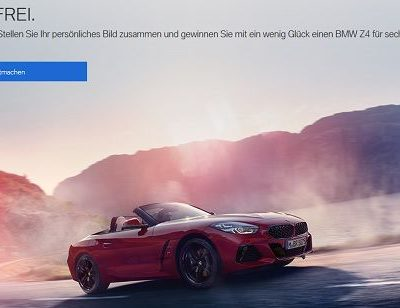 Autogewinnspiel BMW Z4 für 6 Monate kostenlos