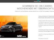 Cabrio Gewinnspiel Motel One 3 Cabrio Wochenenden mit Übernachtung