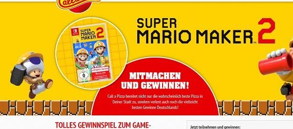 Call a Pizza Gewinnspiel 9 NINTENDO Switch mit SUPER MARIO MAKER 2