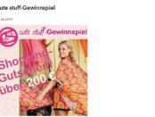 Cute Stuff Gewinnspiel 200 Euro Shopping-Gutschein
