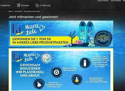 EDEKA und FA Gewinnspiel Meeres Liebe Produktpakete