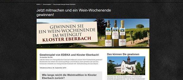 Edeka Gewinnspiel Wein-Wochenendreise ins Kloster Eberbach