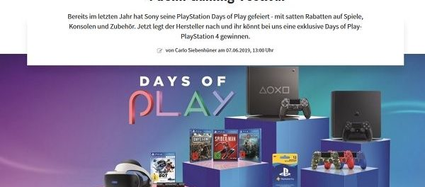 Gamez Magazin Gewinnspiel Playstation 4 Spielkonsole
