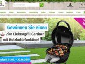 GartenXXL Gewinnspiel 2in1 Elektrogrill mit Holzkohlefunktion
