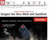 Gewinnspiel Bild.de 10 SanDisk Extreme Portable SSD Festplatten