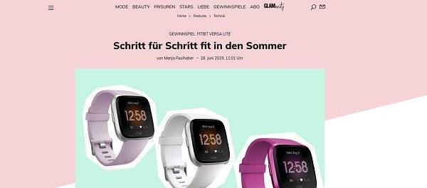 Glamour Gewinnspiele 3 Fitbit Versa Lite Edition Smartwatches