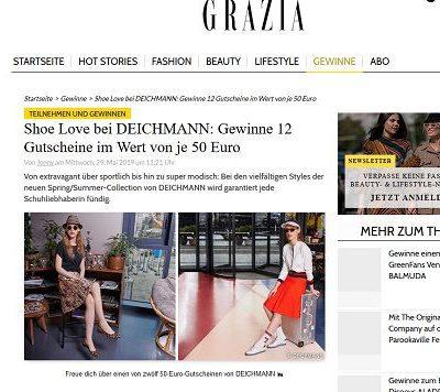 Grazia Magazin Gewinnspiele 12 Deichmann Gutscheine