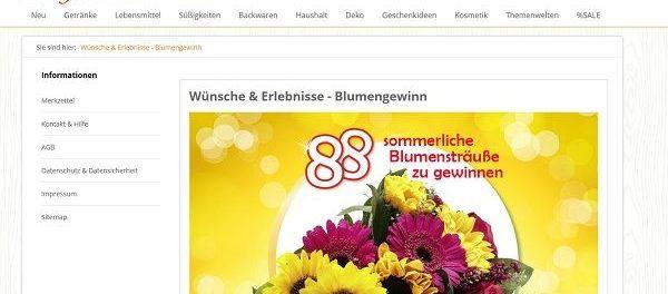 Jungborn Gewinnspiel 88 sommerliche Blumensträuße