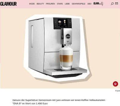 Jura Kaffeevollautomaten Gewinnspiel Glamour Magazin