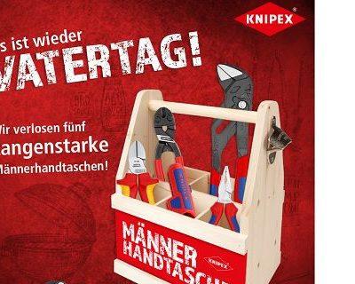 Knipex Vatertag Gewinnspiel 5 Männerhandtaschen mit Werkzeug