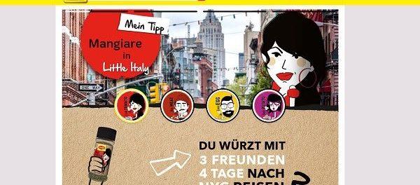 Maggi Kochstudio Gewinnspiel New York Reise 4 Personen