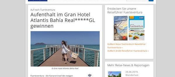 Reise gewinnen Dumont Gewinnspiel Fuerteventura Urlaub 2 Personen